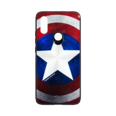 Силикон Case Original Glass Print for Xiaomi Redmi 7 Captain America