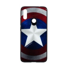 Силикон Case Original Glass Print for Xiaomi Redmi Note 7 Captain America